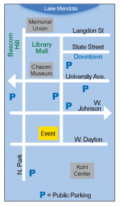 a sketch of map of UW-Madison campus