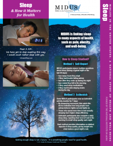 Sleep Newsletter Front Page