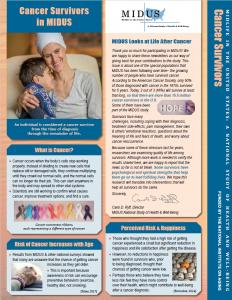 Cancer Survivors Newsletter Front Page