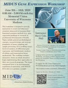MIDUS Gene Expression Workshop 2020 Application Flyer