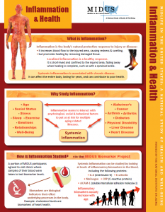 Inflammation and Health Newsletter Front Page