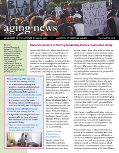 Racial Disparities in Moving to Nursing Homes vs. Assisted Living
